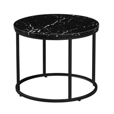 Márvány asztalka, fekete - FERENTZ